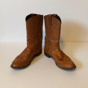 Justin Exotic Roper Full Quill Ostrich Boot